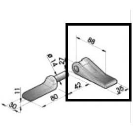 Penture longue Ø14.5mm