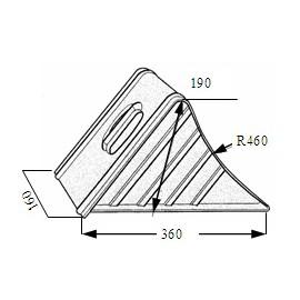 Cale de roue Ø460mm