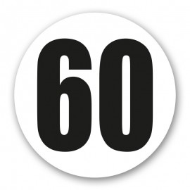 Disque limitation 60 adhésif