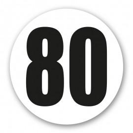 Disque limitation 80 adhésif