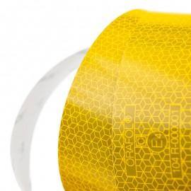 Bande réfléchissante jaune au mètre