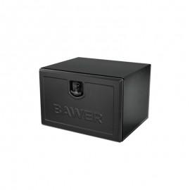 coffre à outils en acier peinture noire L400mm x H300mm x P300mm