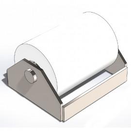 Rouleau de benne Téflon 180mm avec cage