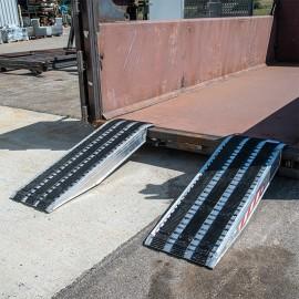 Paire de rampes alu avec revêtement en caoutchouc 1500mm