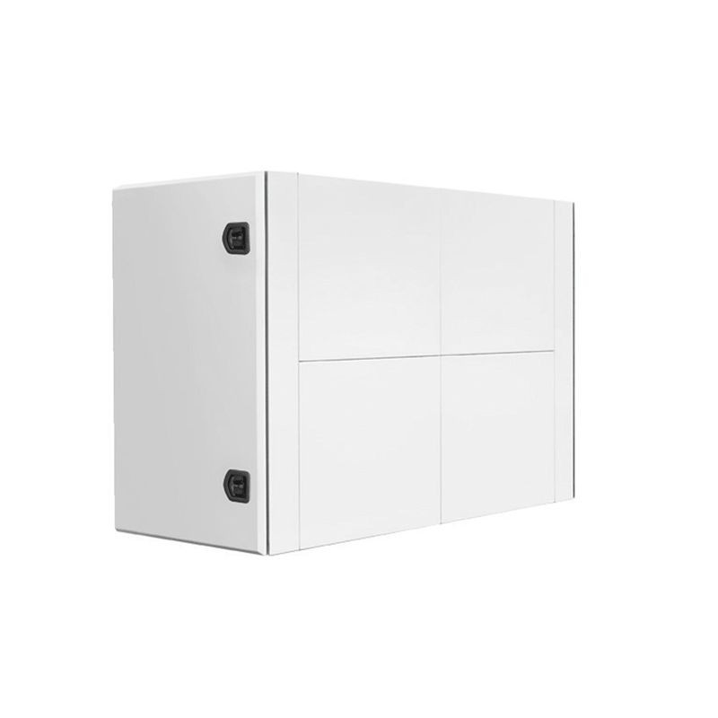 Coffre arrière de cabine en acier peint en blanc H 1200